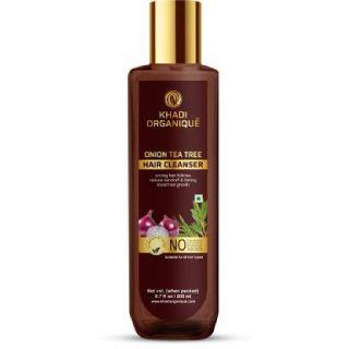 Save 46% on Khadi Organique Onion Tea Tree Hair Shampoo (200 ml)
