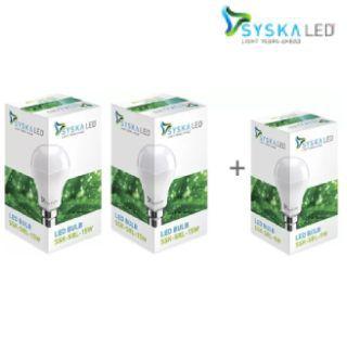 Buy 2 get 1 free + Flat 73%off on Syska 15w LED Bulbs