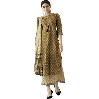 Save 61% on Libas Women Kurta and Palazzo Set Cotton Blend