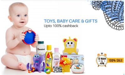 [Live @ 12PM & 4PM] Upto 100% Cashback on Toy, Baby Care