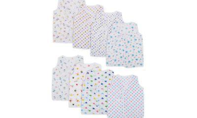 MyKid Baby Boy's Vest (Pack of 8)