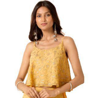 INDYA X PAYAL SINGHAL Women Yellow Top at Rs.800