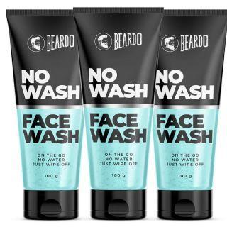 Pack of 3 Beardo No Wash Facewash(100g) at Rs.384 + Free Shipping