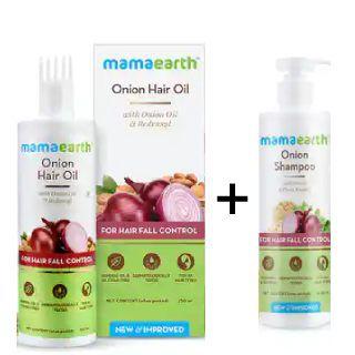 Buy Onion Hair Oil 250ml + Onion Shampoo 400ml at Rs.600 + Get Extra Upto 15% GP Cashback
