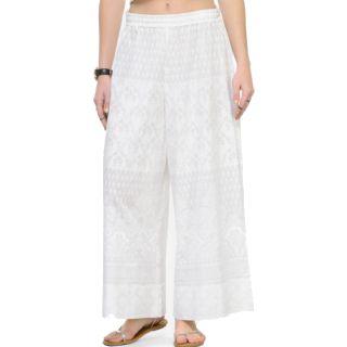 Varanga Women White Straight Printed Palazzos at Rs.797
