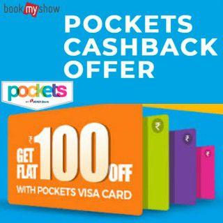 Pocket Cashback Offer on Bookmyshow: Flat Rs.100 Off On Bookmyshow Using Pockets App ( ICICI)