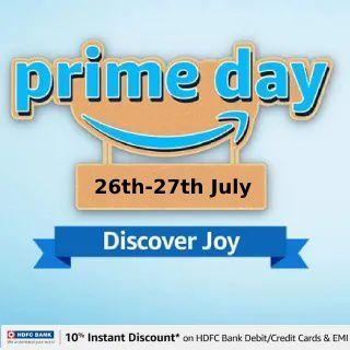 Amazon Prime Day Sale (26th-27th July): Upto 80% Off + 10% off via HDFC Credit Card & EMI