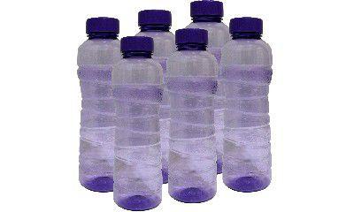 Princeware Victoria PET Fridge Bottle, 975 ml, Set of 6