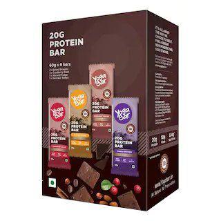 Yoga Bar Protein Variety Box - 6 x 60 g at Rs.629
