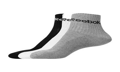 Reebok Men's Solid Ankle Length Socks (Pack Of 3)
