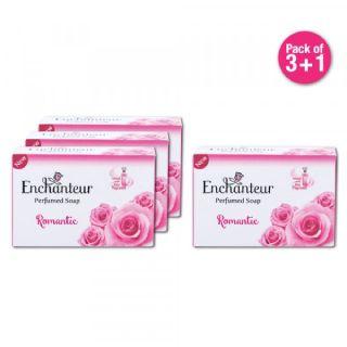 Enchanteur Perfumed Romantic Soap, 75gm, Pack of 3+1