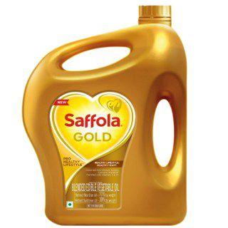Saffola Gold Oil Online: Saffola Gold, Pro Healthy Lifestyle Edible Oil Jar 5 L
