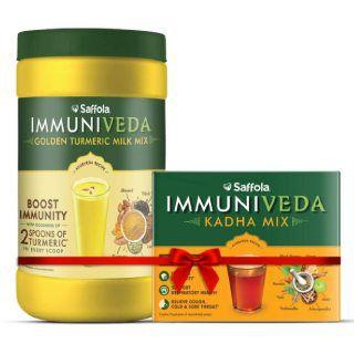 Immuniveda Golden Turmeric Milk Mix 400g + Immuniveda Kadha Mix 80g