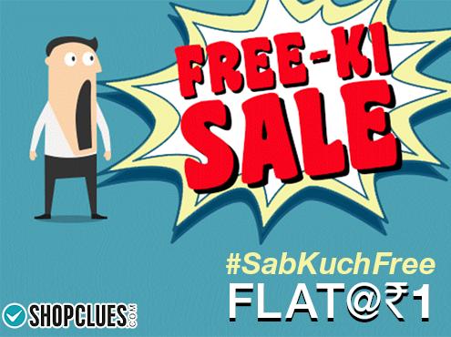 Shopclues Sab Kuch Free @ Flat At Rs.1