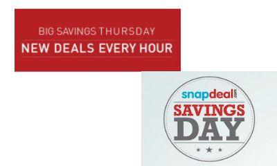 Snapdeal Big Saving Thrusday Sale