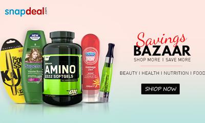 Snapdeal Savings Bazaar - Upto 60% Off