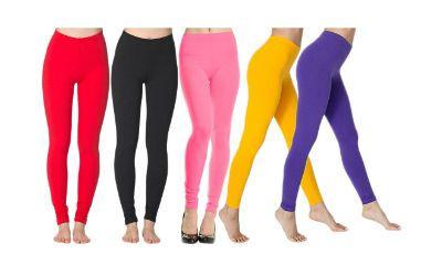Spa Leggings Combo Of 5 Multicolor Leggings