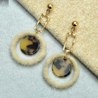 Gift Stylish Earring with Fur Ring this Rakshabadhan