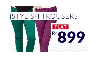 Stylish Women Trousers Flat Rs. 899