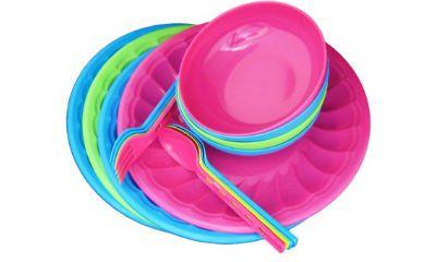 Tesco Pack of 16 Dinner Set (Plastic)