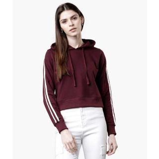 Flat 59% off on Tokyo Talkies  Full Sleeve Solid Women Sweatshirt