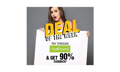 Upto 60% Off + 90% cashback on PayUMoney