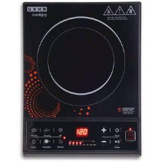 USHA IC 3616 Induction Cooktop (Black, Push Button)