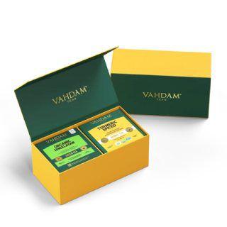 Turmeric Spiced + Himalayan Green Tea Detox Pack at Rs.499