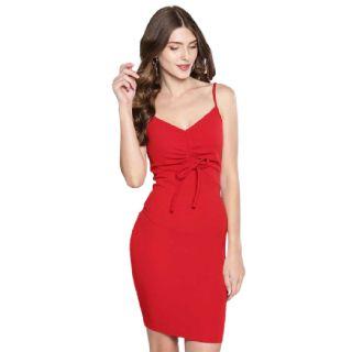 Flat 60% off on Veni Vidi Vici  Women Bodycon Red Dress