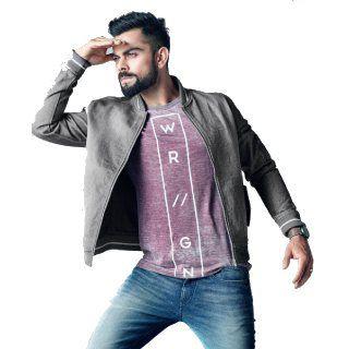 Virat Kohli Fashion: WROGN Men Grey Solid Denim Jacket Rs.3999