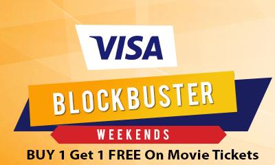 Visa Blockbuster Weekend Offer at Bookmyshow.com