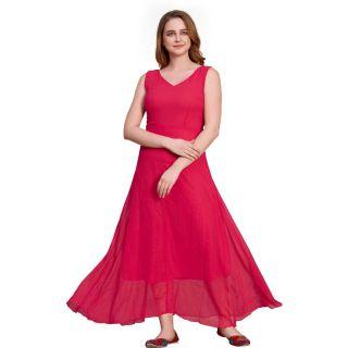 Flat 69% off on westturn  Women Maxi Pink Dress