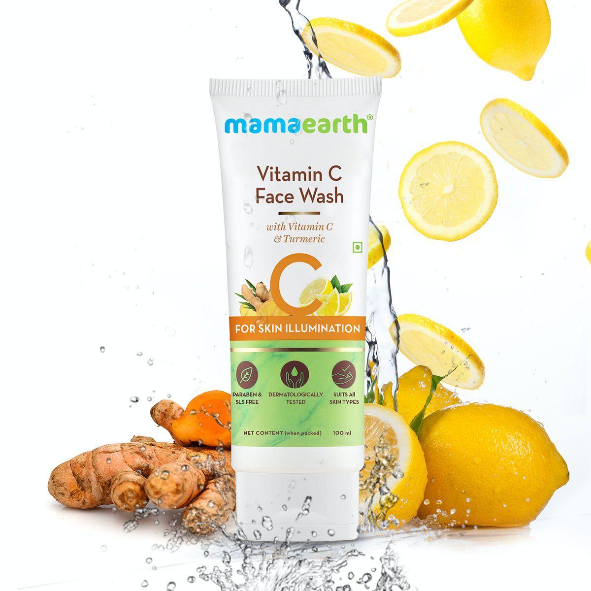 Vitamin C Face Wash with Vitamin C and Turmeric for Skin Illumination – 100ml